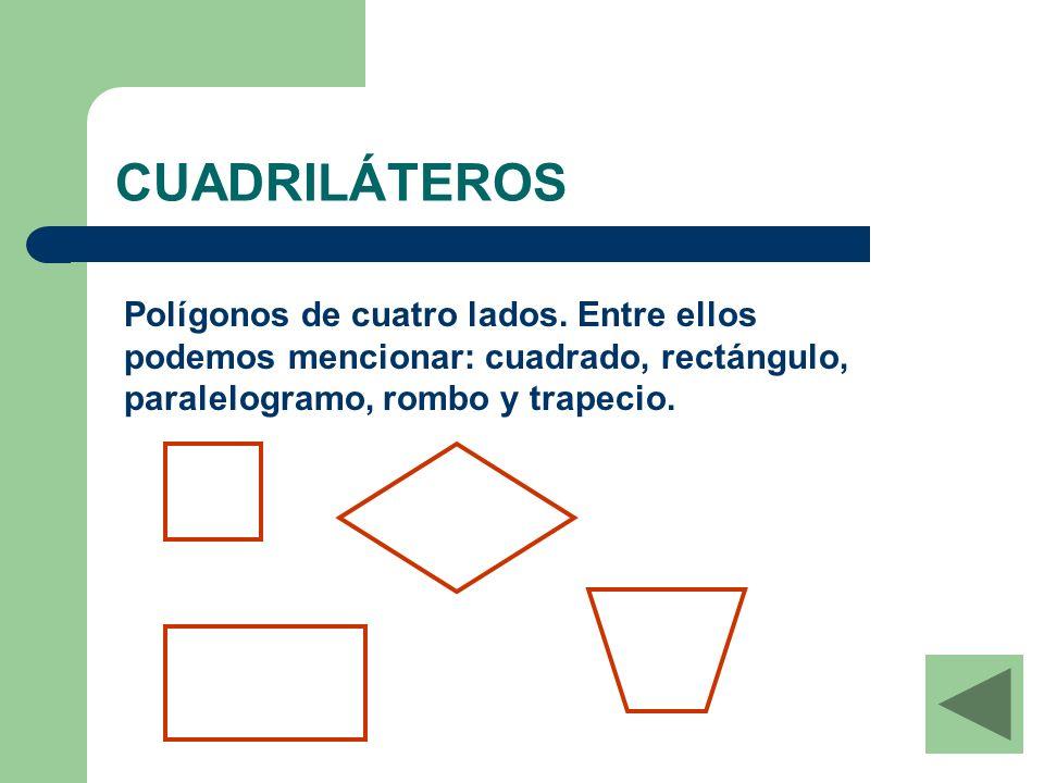 Rombo Cuadrilátero de lados iguales y ángulos iguales de dos en dos.