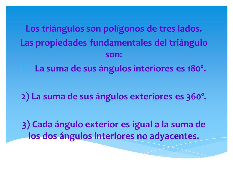  Según sus ángulos en:  Acutángulos: Tienen todos sus ángulos agudos.
