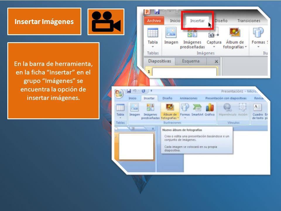 """Insertar Imágenes En la barra de herramienta, en la ficha """"Insertar"""" en el grupo """"Imágenes"""" se encuentra la opción de insertar imágenes."""