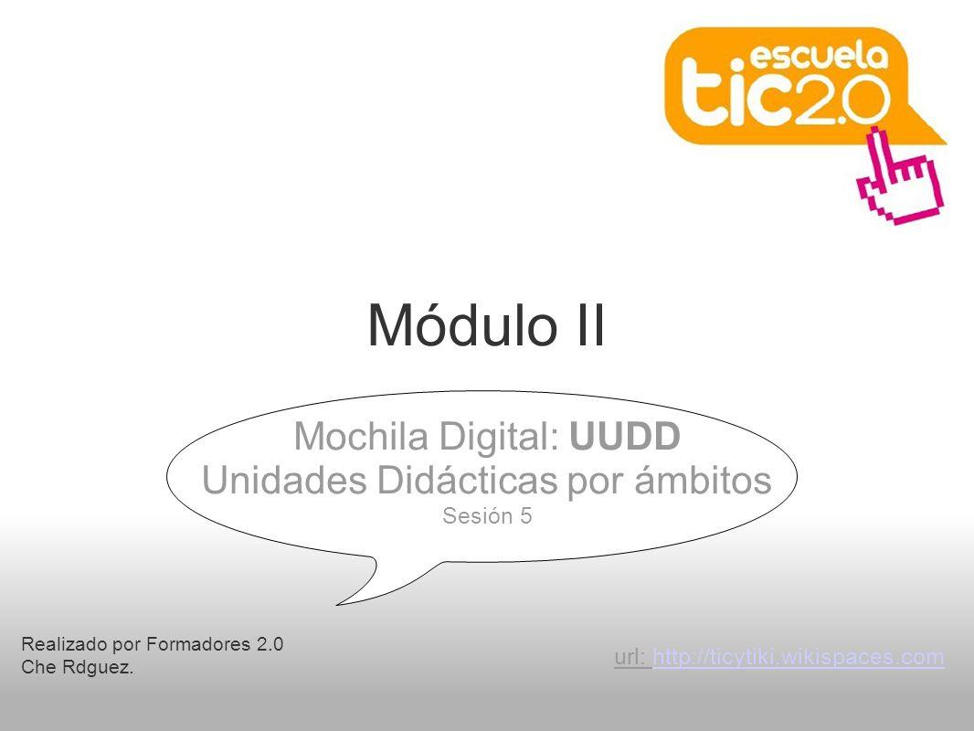 Módulo II Realizado por Formadores 2.0 Che Rdguez.