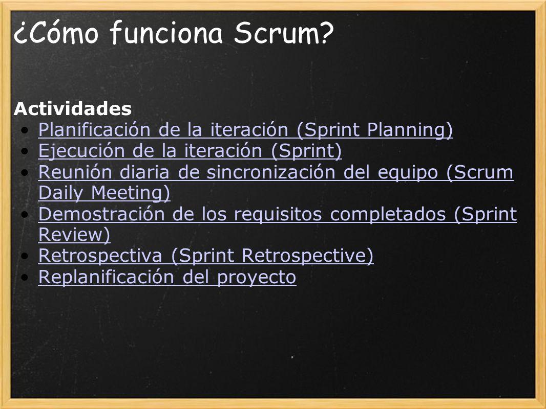 ¿Cómo funciona Scrum.