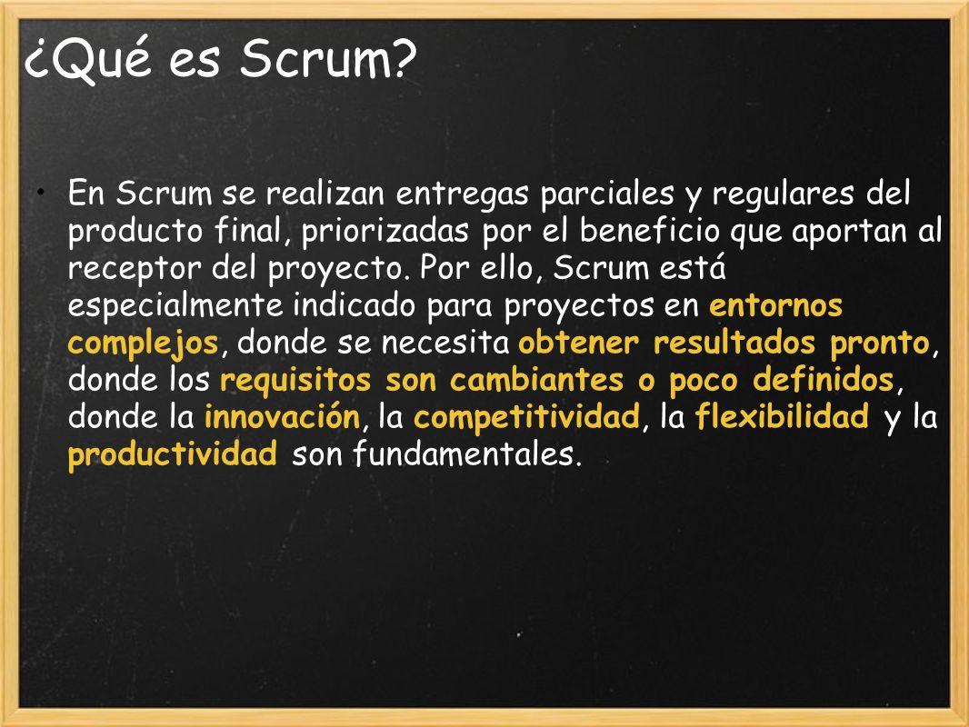 ¿Qué es Scrum.