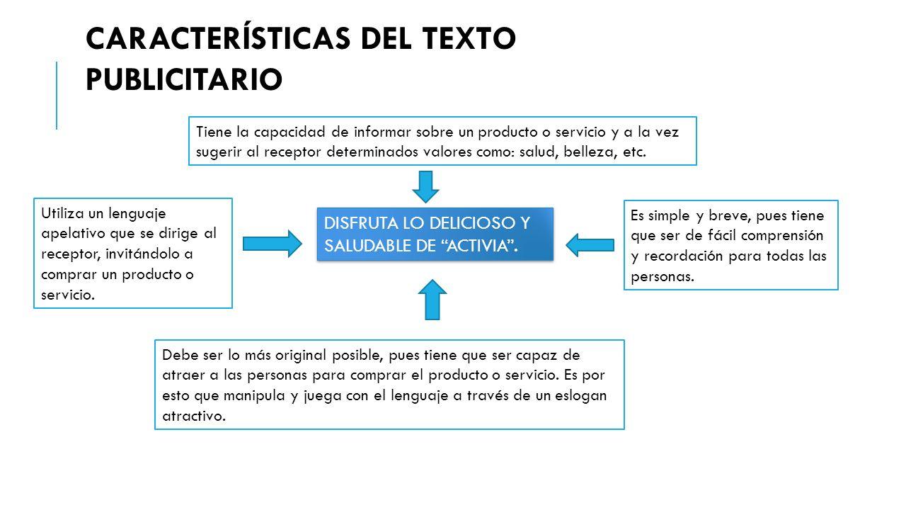 DISFRUTA LO DELICIOSO Y SALUDABLE DE ACTIVIA .