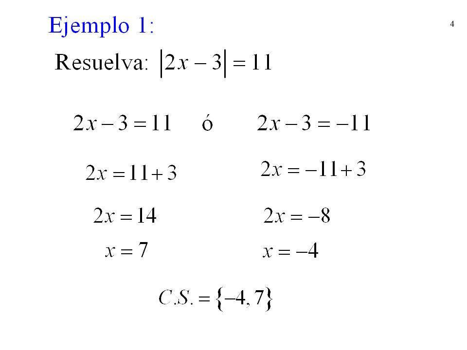 35 Es siempre falso, la ecuación es inconsistente. Ejercicios