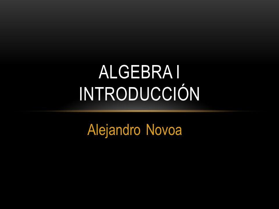 Alejandro Novoa ALGEBRA I INTRODUCCIÓN