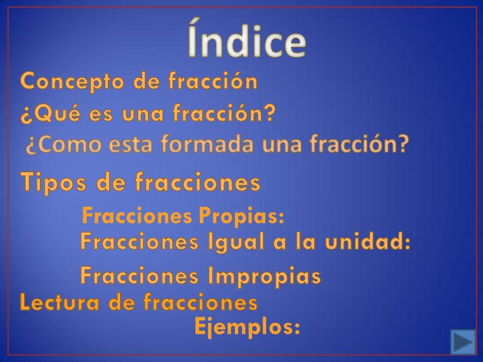 Fracciones Propias: Ejemplos: