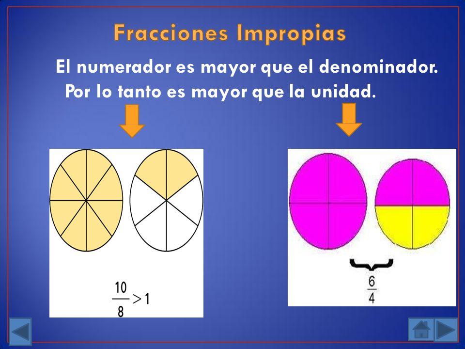 El numerador es mayor que el denominador. Por lo tanto es mayor que la unidad.