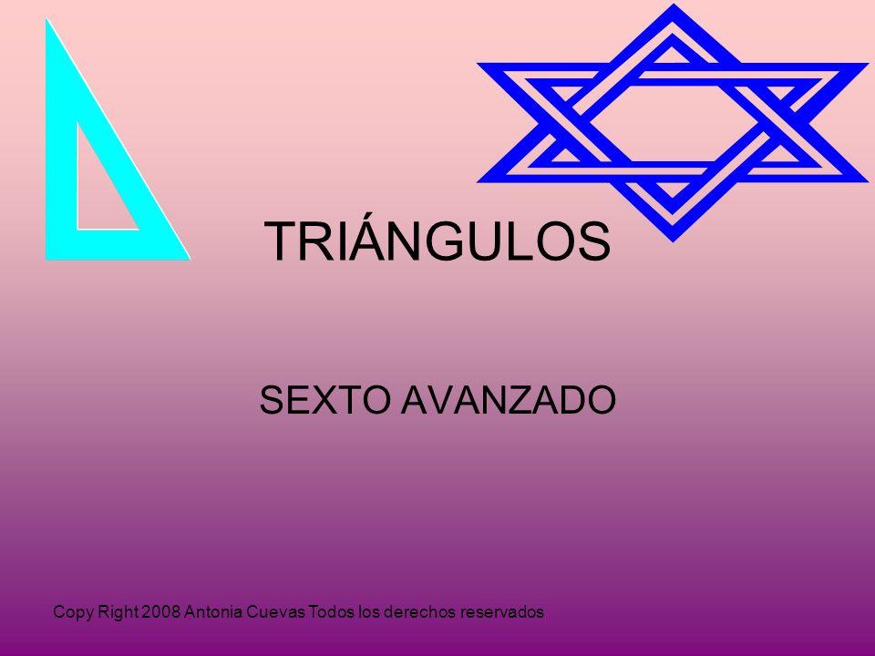 Copy Right 2008 Antonia Cuevas Todos los derechos reservados TRIÁNGULOS SEXTO AVANZADO