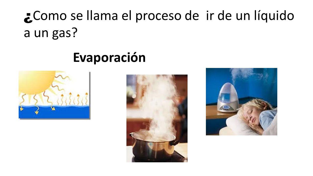 ¿ Como se llama el proceso de ir de un líquido a un sólido? Congelación o solidificación
