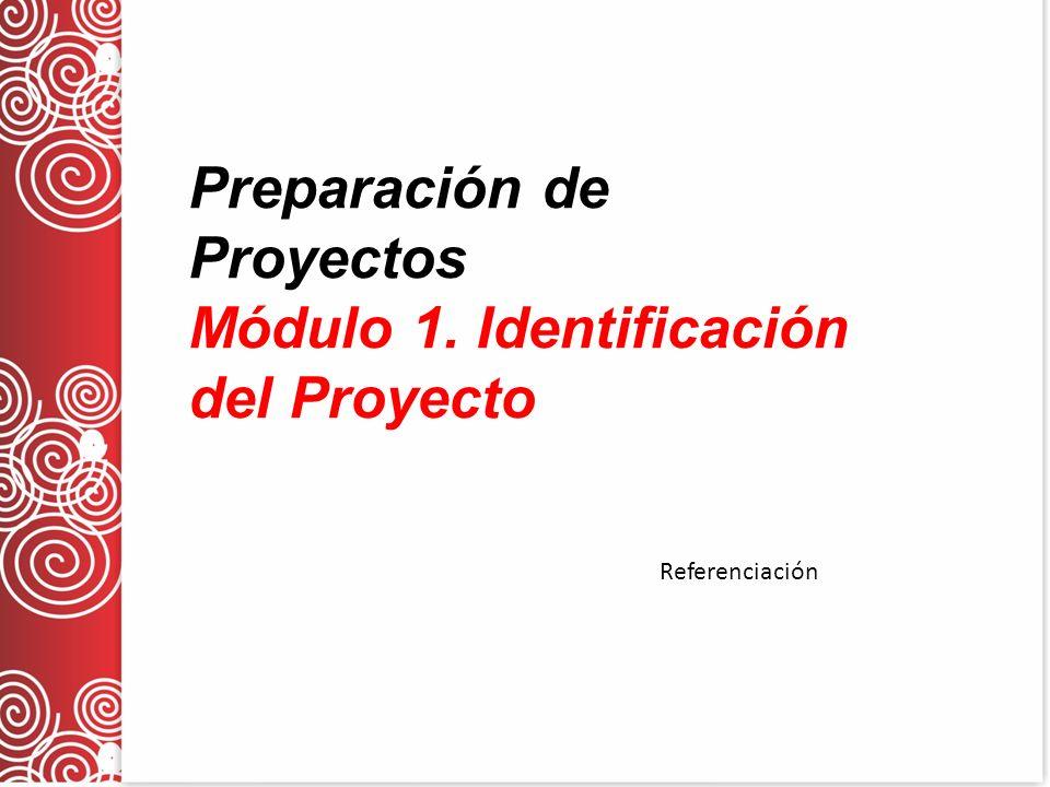 Preparación de Proyectos Módulo 1. Identificación del Proyecto Referenciación