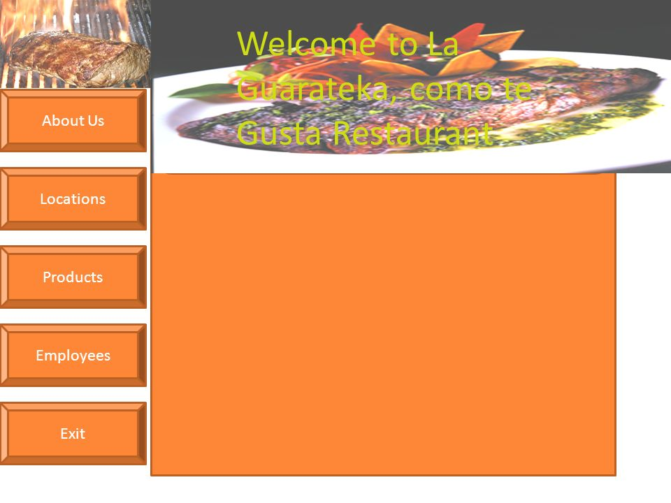 About us locations products employees exit welcome to la guarateka about us locations products employees exit welcome to la guarateka como te gusta restaurant ven forumfinder Image collections