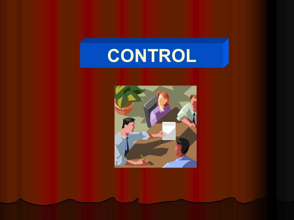CONTROL La función administrativa de control es la medición y corrección del desempeño a fin de garantizar que se han cumplido los objetivos de la empresa y los planes ideados para alcanzarlos.
