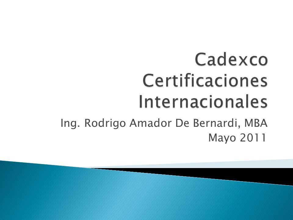 Ing. Rodrigo Amador De Bernardi, MBA Mayo 2011