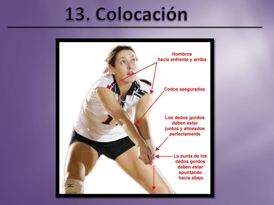 En esta acción colabora la segunda línea para recuperar el balón por si se produce un bloqueo fallido. La ventaja del atacante en un bloqueo es golpea