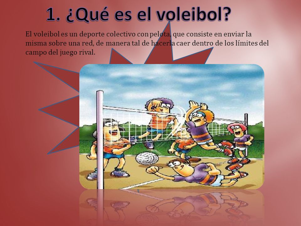 1. ¿Qué es el voleibol? Diap 3 2. Características generales. Diap 4 3. Ventajas. Diap 5 4. Campo. Diap 6 5. Zonas del campo. Diap 7 6. La red. Diap 8