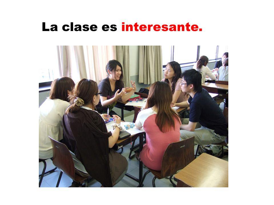 La clase es interesante.