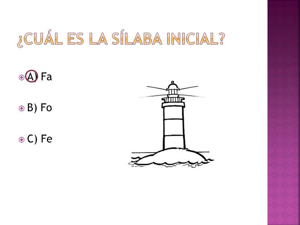  A) Fa  B) Fo  C) Fe