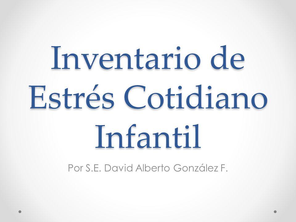 Ficha Técnica Autores: M.Trianes, M. Blanca, F. Fernández-Baena, M.