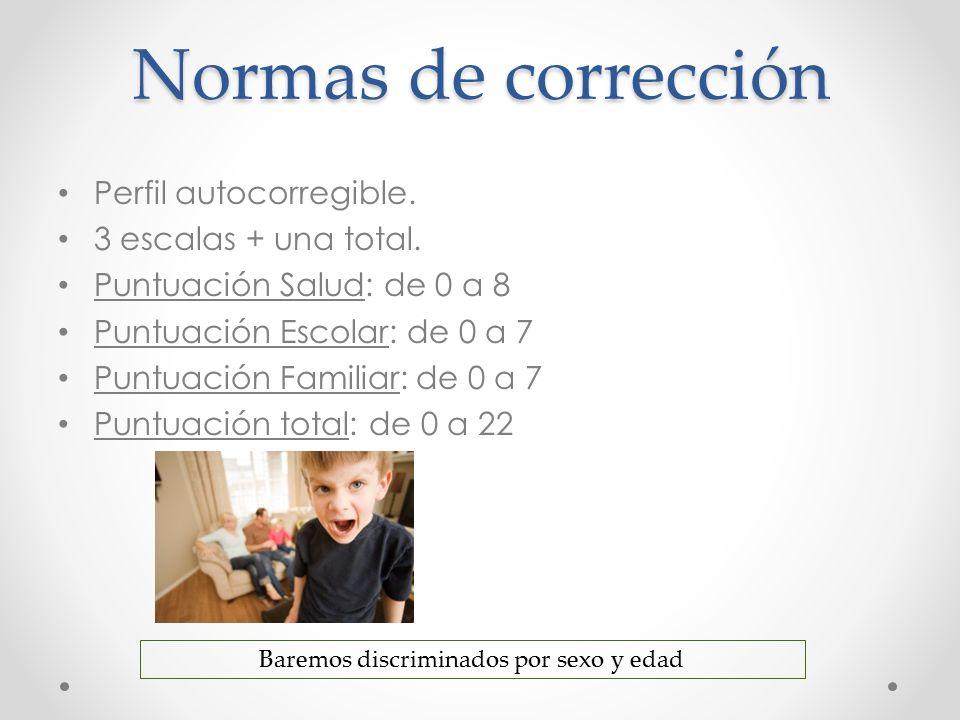 Normas de Interpretación Los baremos ofrecen puntuaciones T y percentiles.