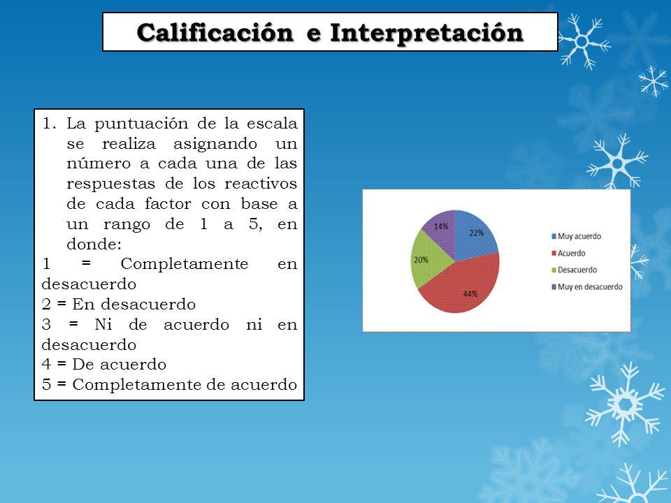 Calificación e Interpretación 2.