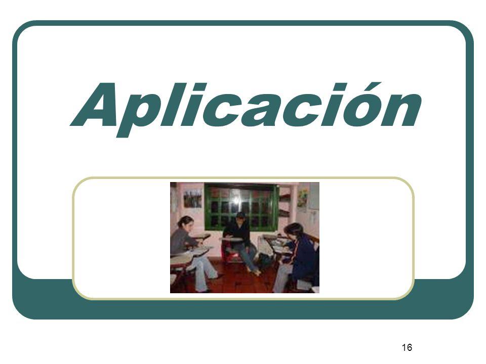 16 Aplicación