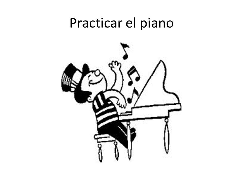 Practicar el piano