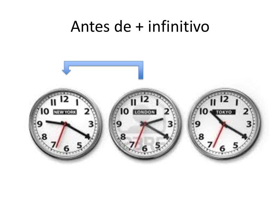Antes de + infinitivo