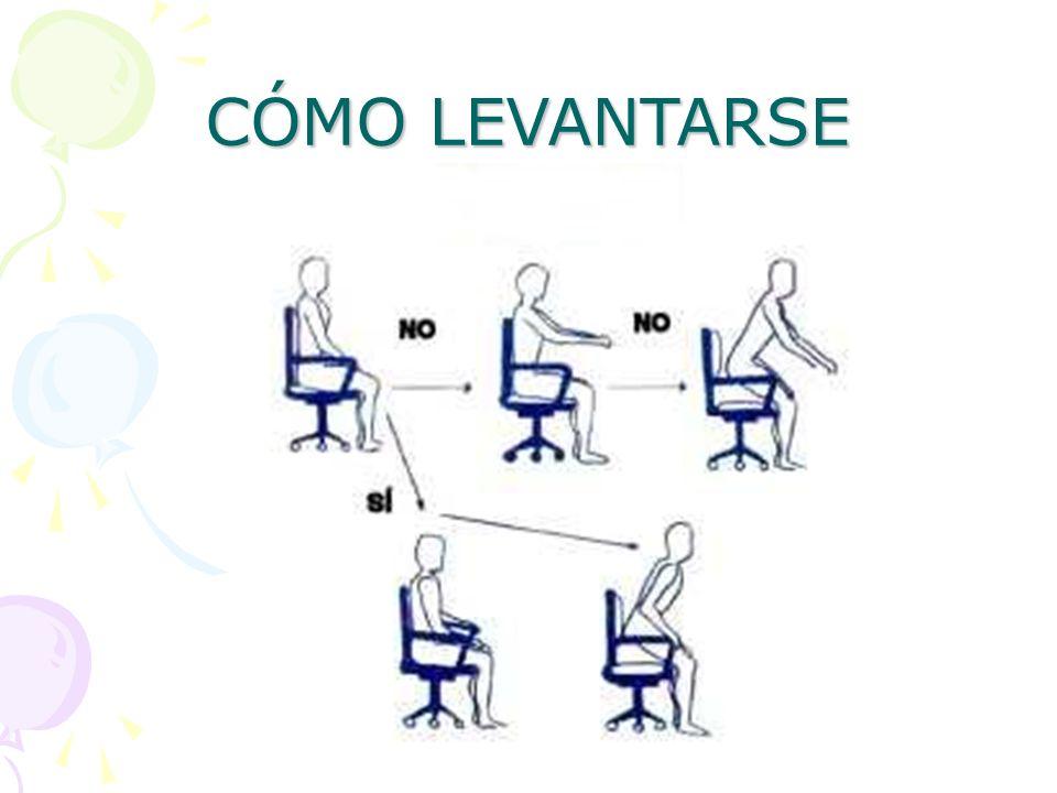 CÓMO LEVANTARSE