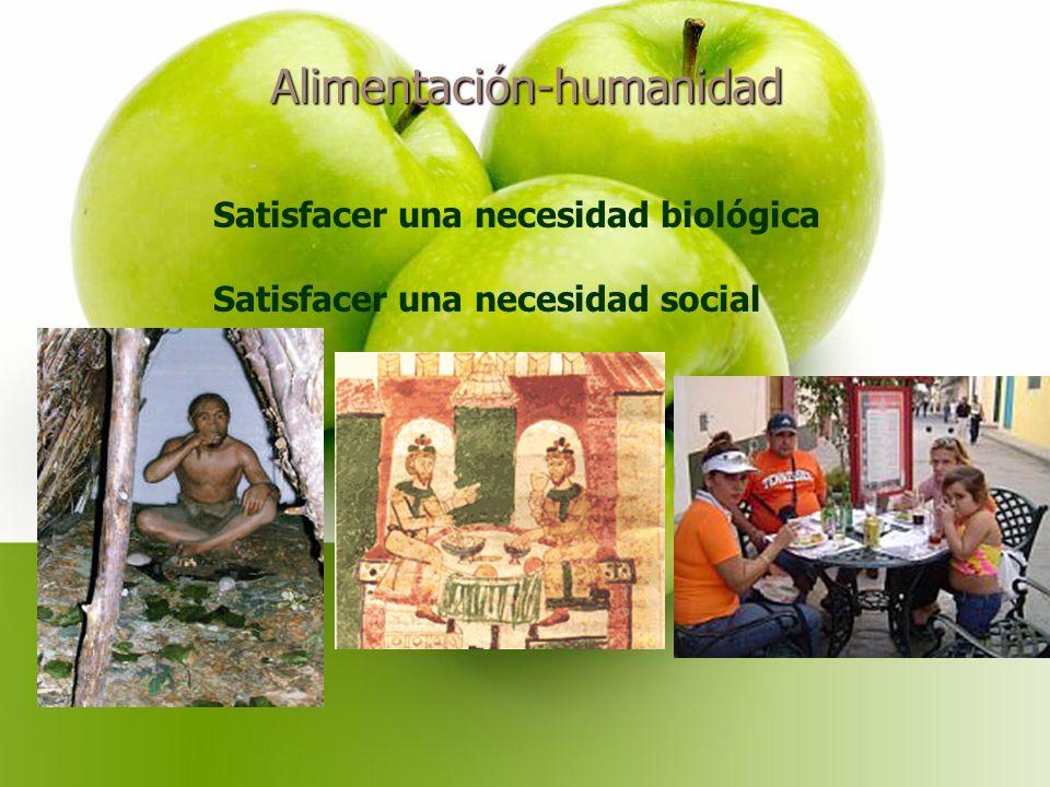 Alimentación-humanidad Satisfacer una necesidad biológica Satisfacer una necesidad social