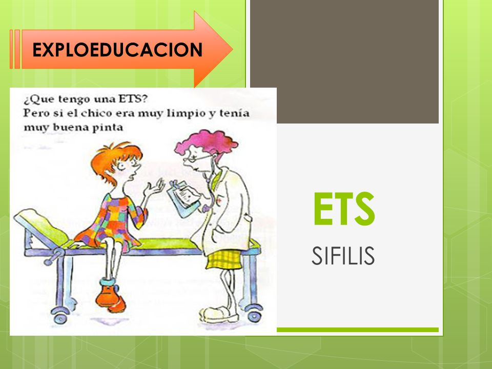ETS SIFILIS EXPLOEDUCACION