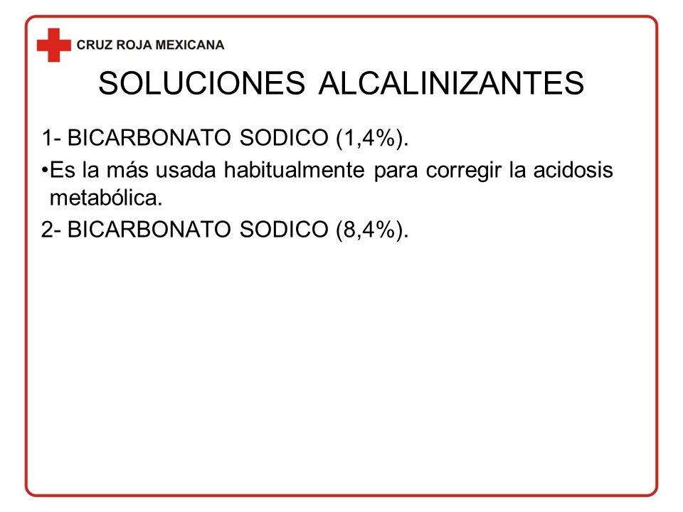 SOLUCIONES ALCALINIZANTES 1- BICARBONATO SODICO (1,4%).