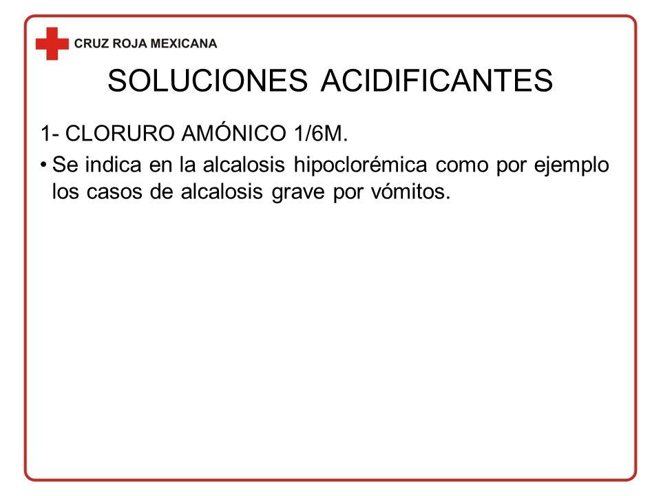 SOLUCIONES ACIDIFICANTES 1- CLORURO AMÓNICO 1/6M.