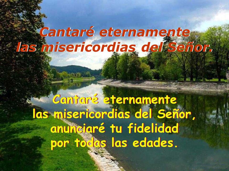 Resultado de imagen para Cantaré eternamente tus misericordias, Señor  Cantaré eternamente las misericordias del Señor,