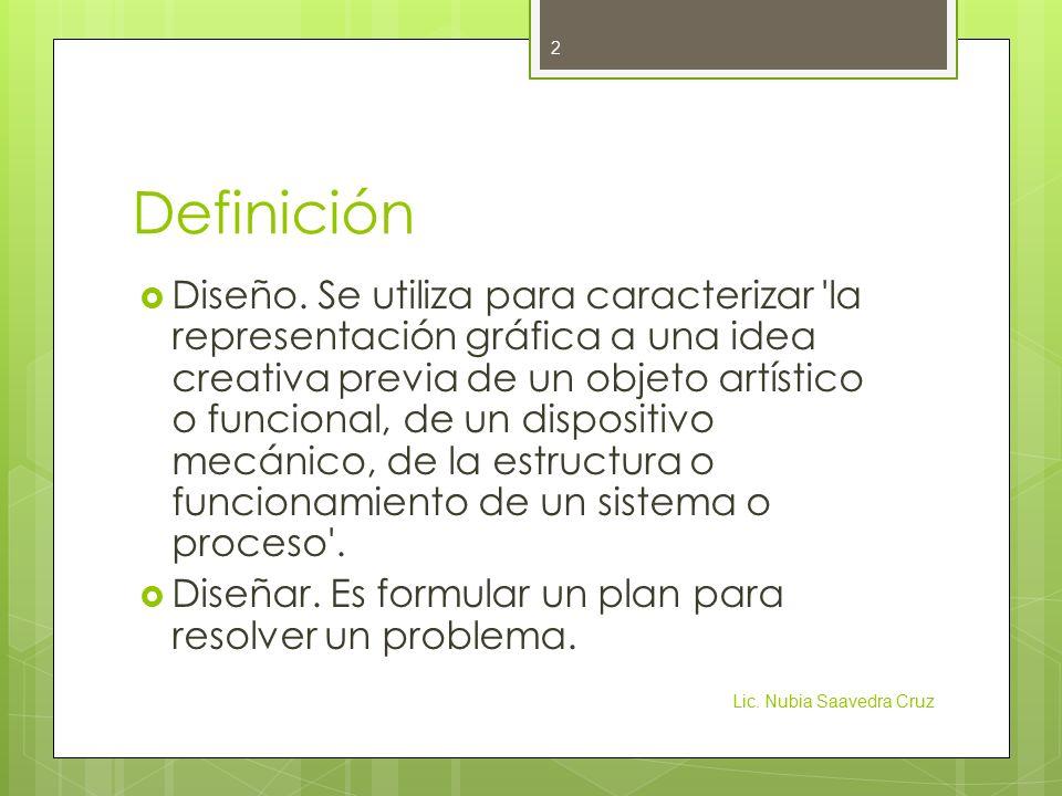 Definición  Diseño.