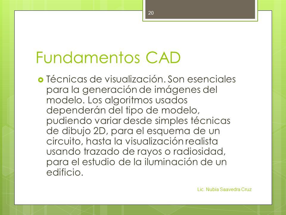 Fundamentos CAD  Técnicas de visualización.