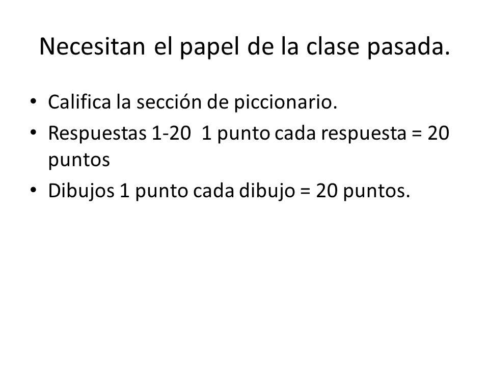 Necesitas el papel de la asignación de la clase pasada. # nombre/apellido miércoles el 5 de marzo, 2014 español pd. La casa y Cienicienta