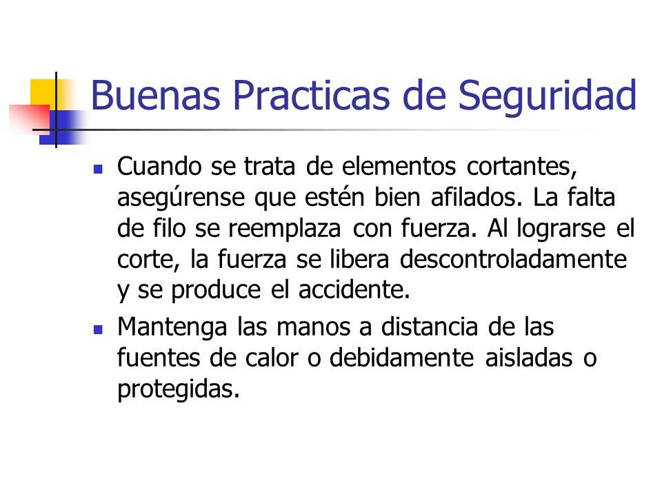 Protección de las Manos Causas de accidentes en manos: Aburrimiento ante trabajos rutinarios Uso indebido o falta de uso de elementos de seguridad.