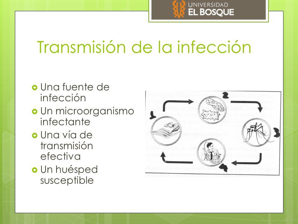  A través de un vehículo  Un equipo, un alimento infectado  Un vector  Fluidos contaminados  Transferencia