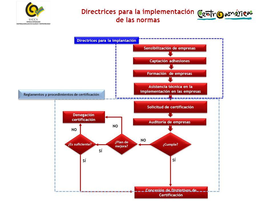 17 Directrices para la implementación de las normas Reglamentos y procedimientos de certificación