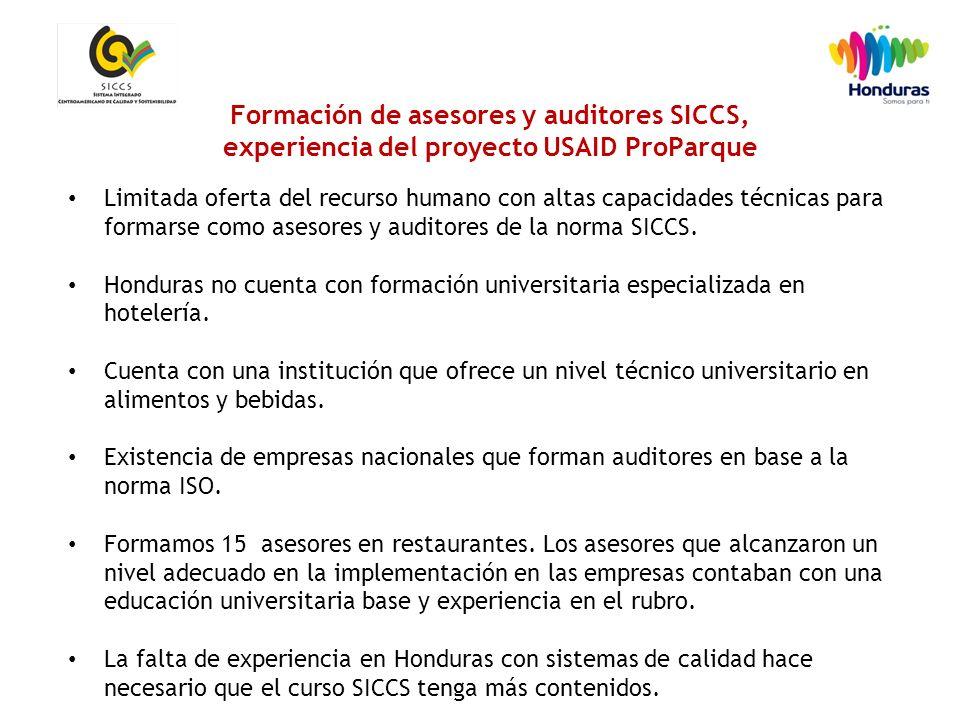 19 Limitada oferta del recurso humano con altas capacidades técnicas para formarse como asesores y auditores de la norma SICCS.