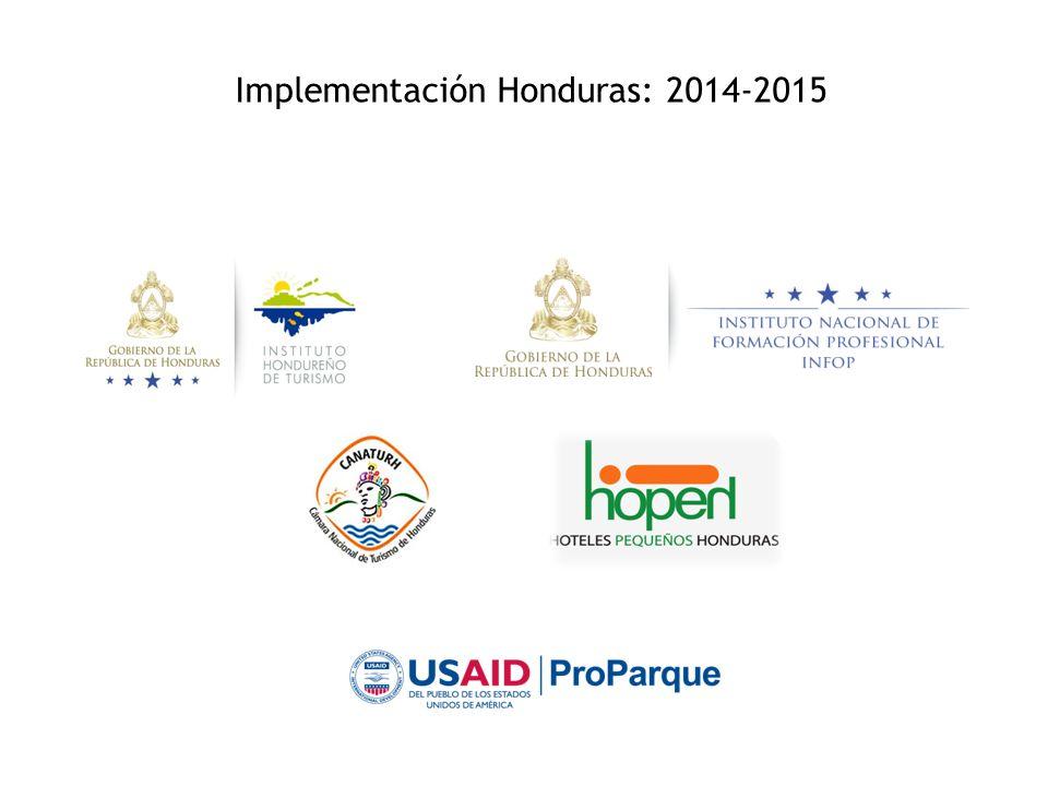 Implementación Honduras: 2014-2015