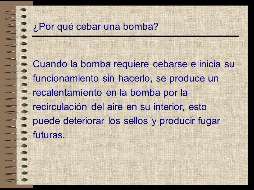 ¿Por qué cebar una bomba.