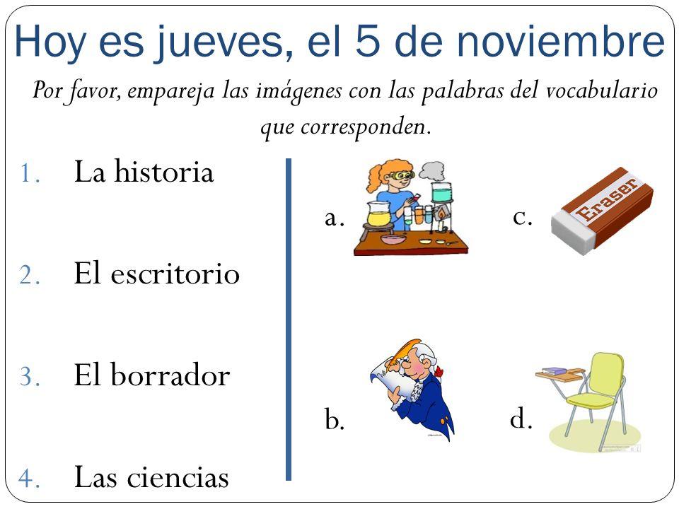 Los estudiantes van a aprender vocabulario nuevo para hablar de lo que se debe hacer un buen estudiante.