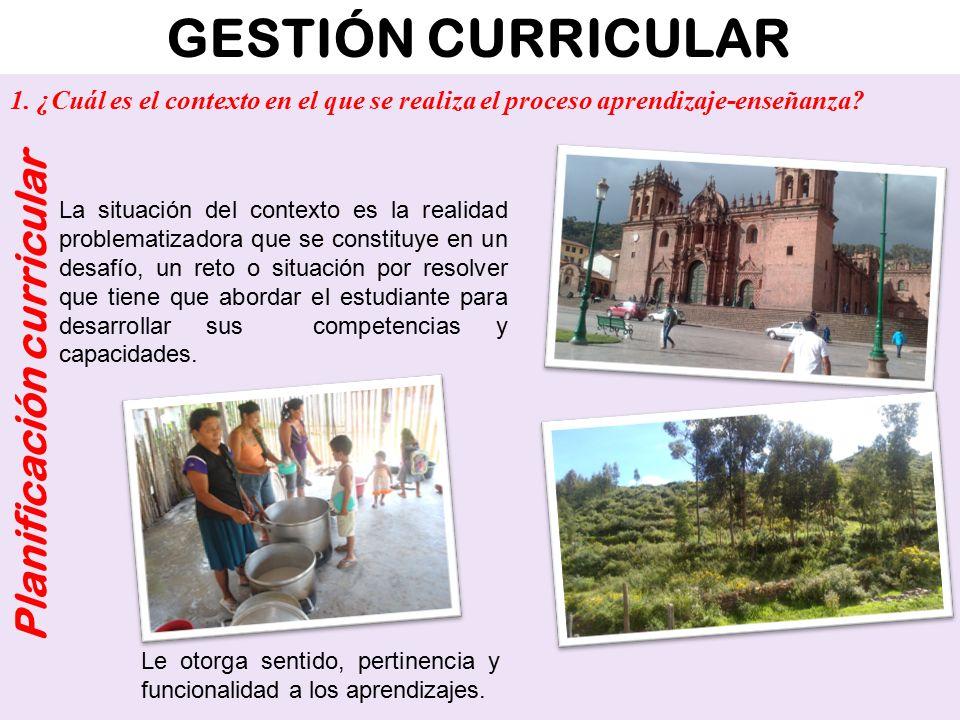 GESTIÓN CURRICULAR Planificación curricular ¿Cómo son.