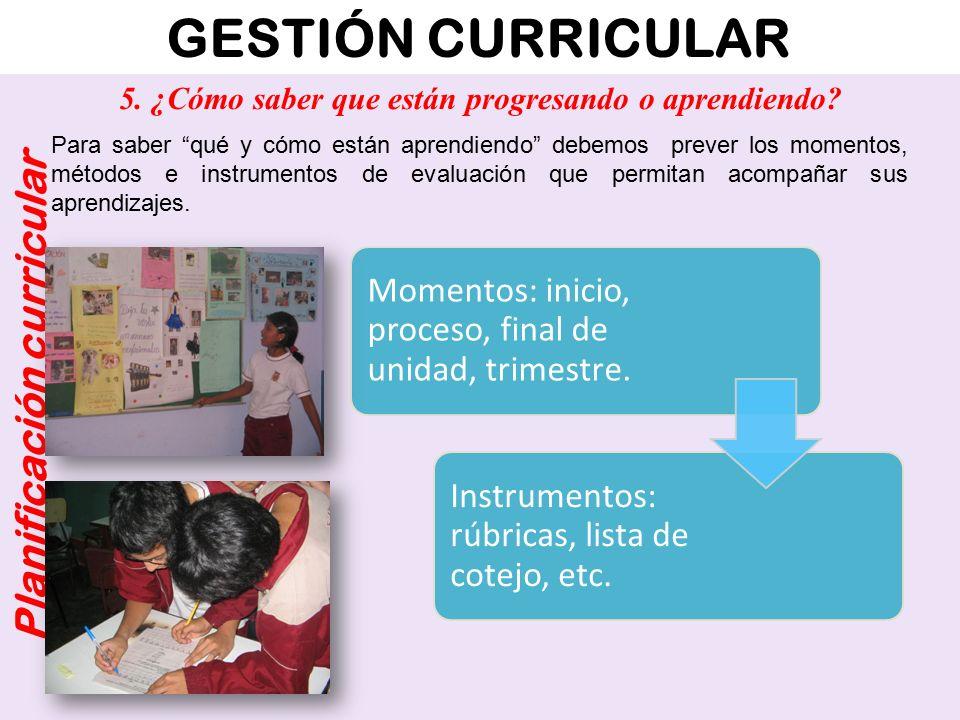 GESTIÓN CURRICULAR Planificación curricular ¿Cuáles son los elementos básicos para planificar las unidades didácticas.