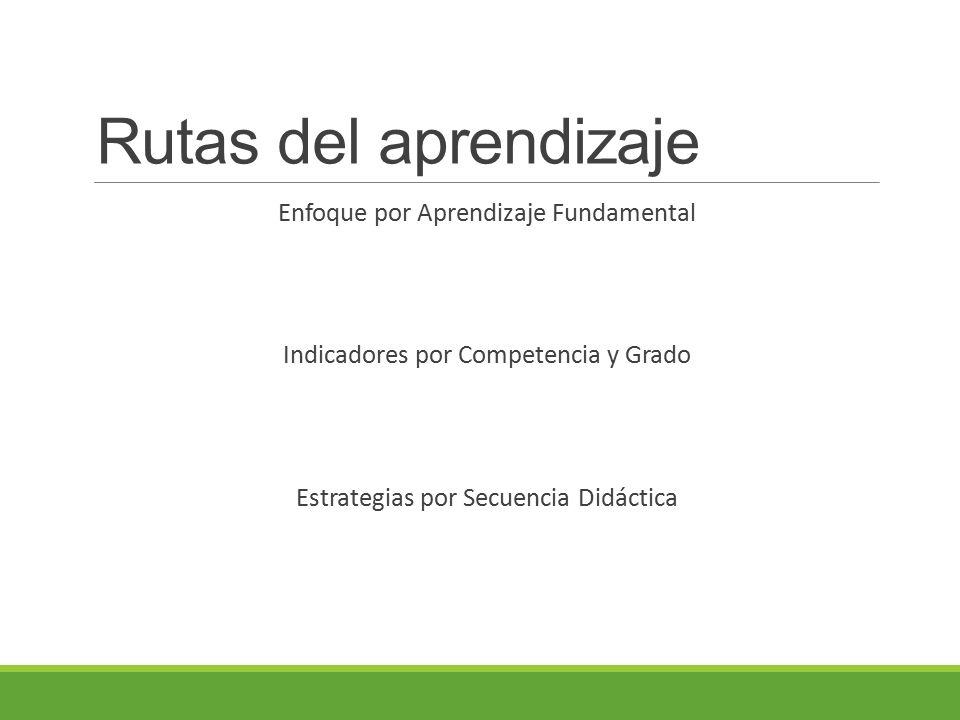 Enfoque por Aprendizaje Fundamental Indicadores por Competencia y Grado Estrategias por Secuencia Didáctica