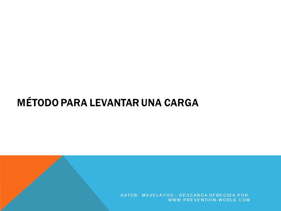 BIBLIOGRAFÍA AUTOR: MAVELAYOS – DESCARGA OFRECIDA POR: WWW.PREVENTION-WORLD.COM Mavelayos.