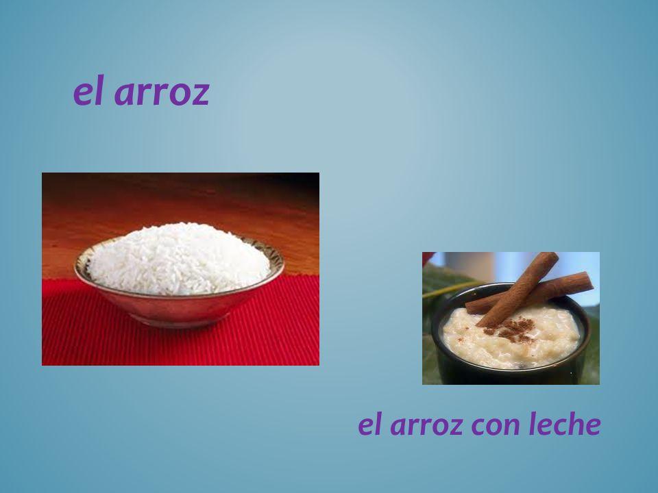 el arroz el arroz con leche