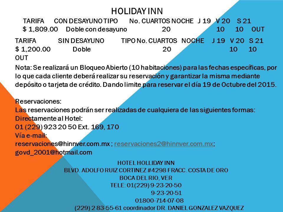 HOTEL HOLLIDAY INN BLVD. ADOLFO RUIZ CORTINEZ #4298 FRACC.