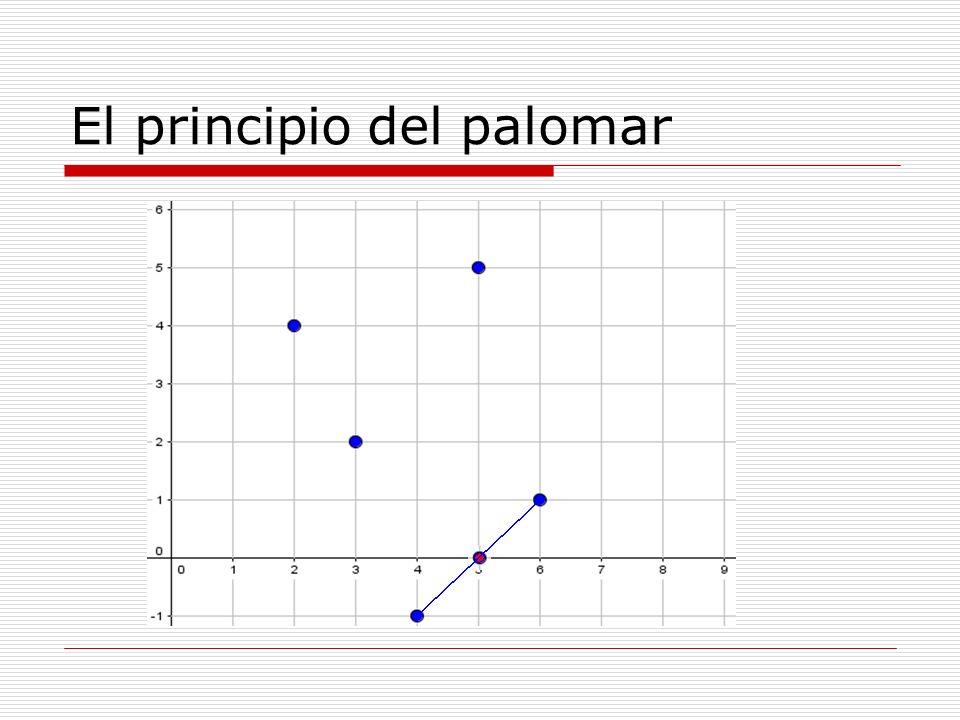 ¿Se pueden colocar en un triángulo equilátero de 2 centímetros de lado 5 puntos de forma que no haya 2 a distancia menor o igual que 1.